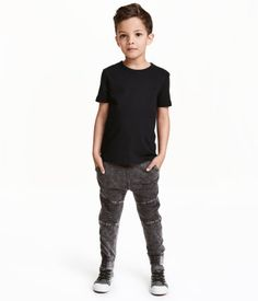 Denim-look joggers | Kids | H&M CA