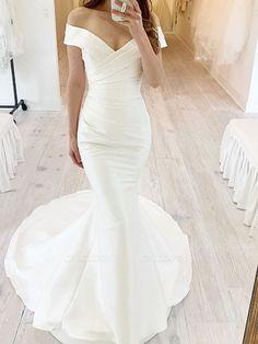 Vintage Lace Mermaid Wedding Dress With Sleeves   Chicloth
