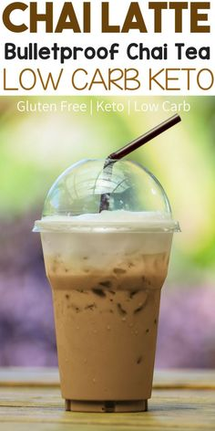 Easy Low Carb Bulletproof Keto Chai Tea Latte Recipe. The best bulletproof coffee alternative! This recipe is also gluten free. #keto #ketorecipes #bulletproof #lowcarb #glutenfree