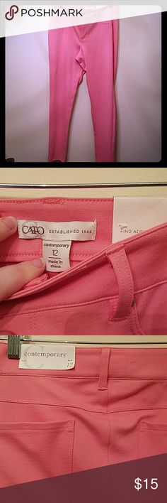 NWT 12 Pink Cato Skinny Pants Brand new! Perfect condition! Cato Pants Skinny