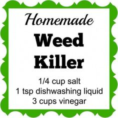 Homemade Weed Killer This Homemade Weed Killer has only 3 ingredients. Spray it on the weeds and they'll die within a few days.This Homemade Weed Killer has only 3 ingredients. Spray it on the weeds and they'll die within a few days. Diy Gardening, Organic Gardening, Container Gardening, Apartment Gardening, Gardening Quotes, Gardening Books, Vegetable Gardening, Garden Yard Ideas, Lawn And Garden