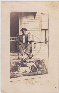 Vintage Photograph African American man by ForgetMeNotEphemera