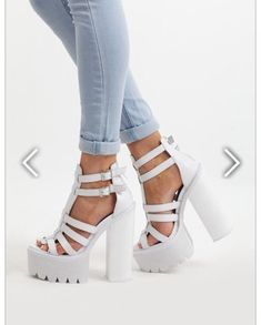 1b2fa13c3ab shoes white shoes platform shoes high heels jeffrey campbell jeans Platform  High Heels