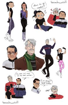 """beccadrawsstuff: """" An idea I've been kicking around while waiting for the final episode but once Viktor and Yuuri retire (for real real. I feel like they'll be the Peyton Mannings of ice skating) they move into a little house back in Hasetsu and..."""