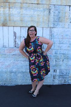 This is a great, easy tutorial on how to make a simple dress that is suitable for all seasons and can be easily dressed up or down, and you have to be this exited when you wear it… it's a rule ;) This dress is based on the Sorbetto Pattern which is a free downloadable pattern from Colette Patterns. We have used this pattern in other blog posts because it is a great basic pattern that can be used for many projects. Okay so first we have to make some simple alterations to our paper pattern ...