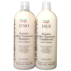 LA-BRASILIANA UNO Keratin After Treatment Shampoo 32oz + Conditioner 32oz Combo Set Sale! by LA-BRASILIANA. $71.95. LA-BRASILIANA DUE Keratin After Treatment Conditioner 32oz. LA-BRASILIANA UNO Keratin After Treatment Shampoo 32oz. LA-BRASILIANA UNO Keratin After Treatment Shampoo 32oz/////LA-BRASILIANA DUE Keratin After Treatment 32oz