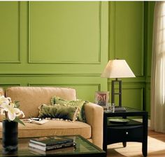 How far would you take your #Irish pride? We love the look of a fresh, green living room! #DutchBoy #color #paint #green http://www.dutchboy.com/colors/families/greens/greens/index.jsp
