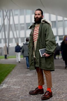 This guys look had all of those great little details (the cool shoes, the length of the pants...