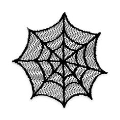 Product Image for Heritage Lace® Spider Web Doilies in Black (Set of 4) 1 out of 3
