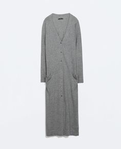 Image 7 of LONG CARDIGAN WITH POCKETS AND SLITS from Zara
