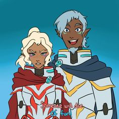 If that is Allura's Mommy with her Daddy ( It is Allura's Daddy, Alfor.) I now know why Allura is who she is with these words LOL