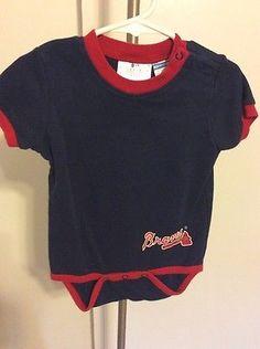 Unisex Baby Infant Atlanta Braves MLB Onesie Size 12-18m