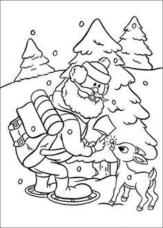 Dibujos para Colorear Rudolph, el reno de la nariz roja 6