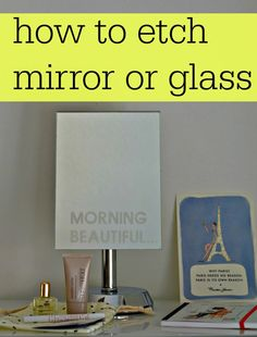how to etch mirror or glass using the Cricut explore to create a template. I love this and it would make the perfect personalised gift Etched Mirror, Diy Mirror, Etched Glass, Plotter Silhouette Cameo, Shilouette Cameo, Pots, Cricut Explore Air, Cricut Tutorials, Cricut Creations