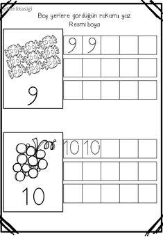 Kindergarten Math Worksheets, Preschool Learning Activities, Preschool Printables, Writing Activities, Teaching Math, Kids Learning, Tracing Sheets, Montessori Math, Simple Math