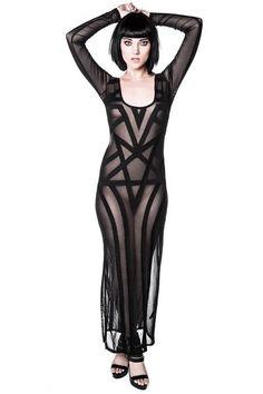 Zandra Mesh Maxi Dress [B]