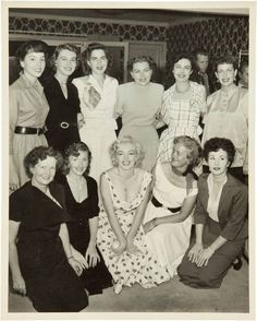 Marilyn Monroe and the Yankee wives.