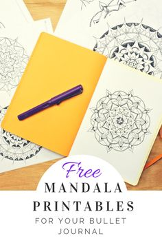 Free 4 pack of hand drawn mandalas for you to print out and color!