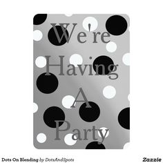 Dots On Blending 5x7 Paper Invitation Card