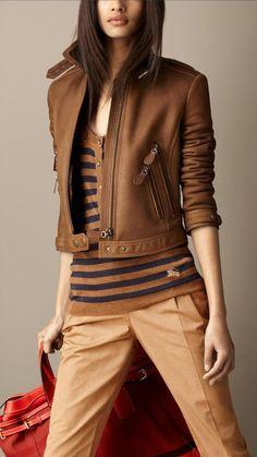 Merino Shearling Cropped Jacket | Burberry
