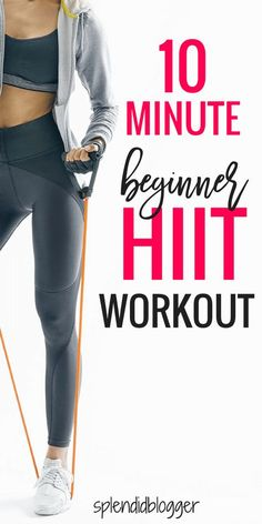 Beginner HIIT Workout routine to burn fat and tone your body ASAP. This quick workout can be done anytime and anywhere in just 10 minutes. Learn basic exercises to get your body in shape for swimsuit season! #HIIT #workout
