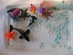 Ocean Sensory Tub | No Time For Flash Cards - Play and Learning Activities For Babies, Toddlers and Kids