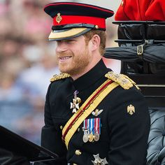 Prince Harry looked resplendent in his Household Cavalry Number 1 ceremonial, with Forage Cap. Photo: © Getty Images