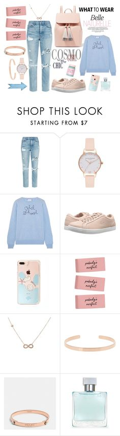 """Pink and blue"" by jeca09 ❤ liked on Polyvore featuring GRLFRND, Olivia Burton, Lingua Franca, Lacoste, Latelita, Aurélie Bidermann, Coach, Azzaro, Lime Crime and autumn"