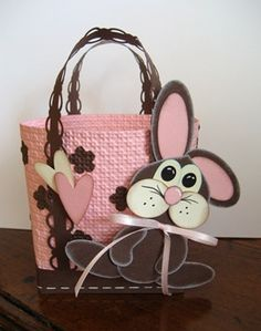 pink brown purse minus the rabbit