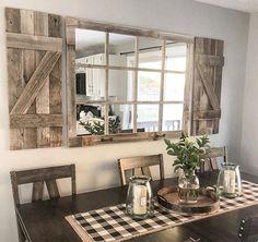 Farmhouse Windows, Farmhouse Interior, Country Farmhouse Decor, Rustic House Decor, Modern Farmhouse Kitchens, Farmhouse Style, Rustic Houses, Modern Farmhouse Living Room Decor, Modern Rustic Decor