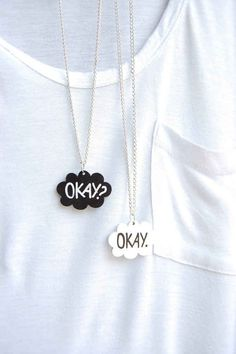 The Fault In Our Stars Necklaces that me and azlyn need