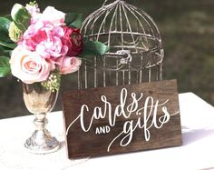 Wooden Cards and Gifts Sign Wooden Wedding Signs, Wedding Signage, Wedding Table, Diy Wedding, Wedding Ideas, Wedding Advice, Wedding Goals, Wedding Trends, Wedding Reception