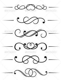 Buy Swirl Elements by VectorTradition on GraphicRiver. Swirl elements and monograms for design and decorate. Vector image, editable EPS and JPEG files are included FL. Swirl Design, Border Design, Schrift Design, Stencil Patterns, Piping Patterns, Calligraphy Letters, Rangoli Designs, Arabesque, Clipart