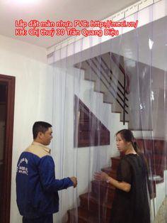 Lắp đặt màn nhựa PVC tại Hà Nội, Meci.vn chuyên lắp đặt sản xuất màn nhựa PVC.