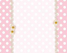 Rosa e Branco com Bolinhas – Kit Completo com molduras para convites, rótulos para guloseimas, lembrancinhas e imagens!  Fazendo a Nossa Festa