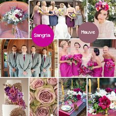 Sassy Sangria + Muted Mauve = A Perfect Palette! Fall Color Combos based on The Perfect Palette's Top 10 Wedding Colors for Fall 2014! See More Here: http://blog.fiftyflowers.com/more-wedding-color-palettes-for-fall/