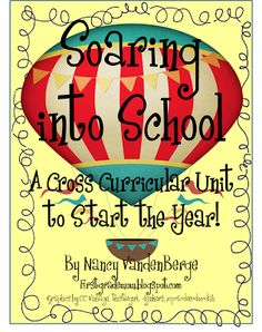 FREE 78 pages of wonderful hot air balloon cross-curricular activities to start the school year!