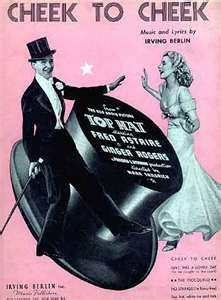 """Fred Astaire / Ginger Rogers.  Dancing """"Cheek to Cheek"""".  Heaven. I'm in heaven watching them!"""