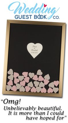 The Drop in Hearts Wedding Guest Book is a truly unique guest book alternative that is a delight for you and your guests.