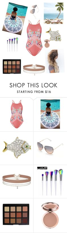 """""""going to the beach"""" by koolc ❤ liked on Polyvore featuring MINKPINK, Tahari, Miss Selfridge and Morphe"""