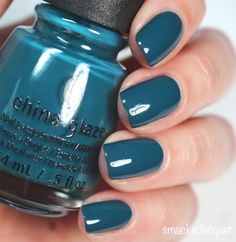 China Glaze Rebel Collection 2016 Jagged Little Teal | smackerlacquer