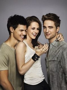 Taylor Lautner, Kristen Stewart, and Robert Pattison
