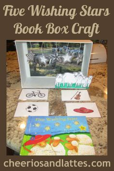 Five Wishing Stars Book Box Craft; beginner reading activity