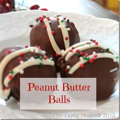 peanut butter balls thumb 20 Days of Christmas Cookies/Treats.  Days 15 Peanut Butter Balls.