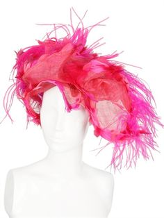 Nana Goose and Ostrich Feathers Net Hat (FABULOUS!)