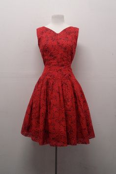 1950s red vintage dress - Google Search