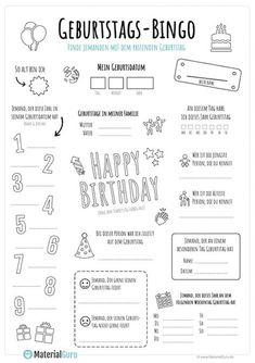 Bingo birthday - level of education - Bingo birthday Informations About Bingo Geburtstag – Bildungsniveau Pin You can easily use my prof - Bingo, Languages Online, Foreign Languages, Kindergarten Portfolio, Toddler Learning Activities, Learn German, Elementary Education, Classroom Management, Worksheets