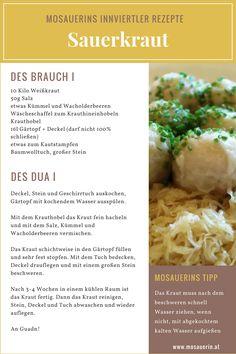 Mosauerins Innviertler Rezepte - #Sauerkraut Sauerkraut, Grains, Rice, Food, Cooking, Recipies, Essen, Meals, Seeds