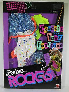 @ NEW NIB BARBIE 1986 BARBIE AND THE ROCKERS CONCERT TOUR FASHIONS BLUE JACKET