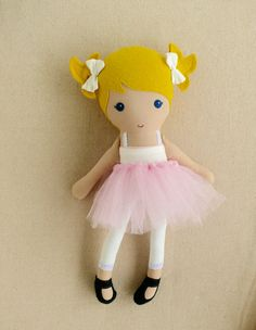 Reserved or Kate  15 Inch Fabric Doll Rag Doll by rovingovine